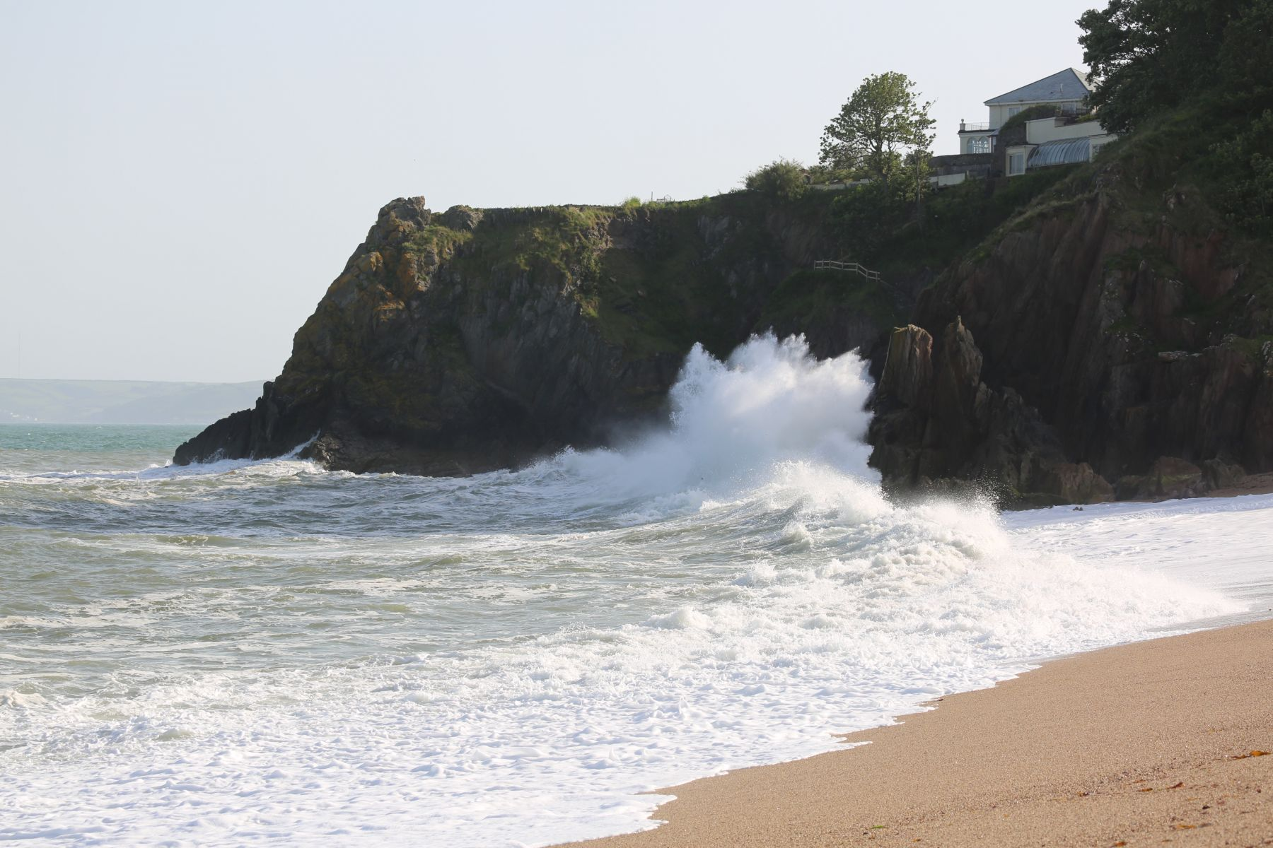 Waves at the entrance to Jenny's Cove where the kayakers came ashore