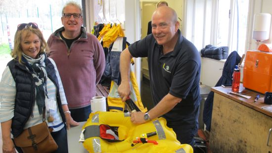 LIfe jacket clinic at RNLI Dart lifeboat Station