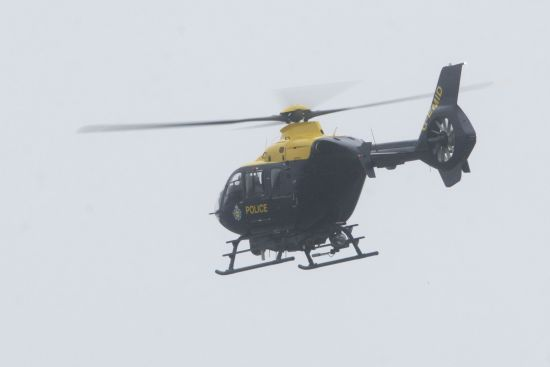 The police helicopter joined in the search for a missing person
