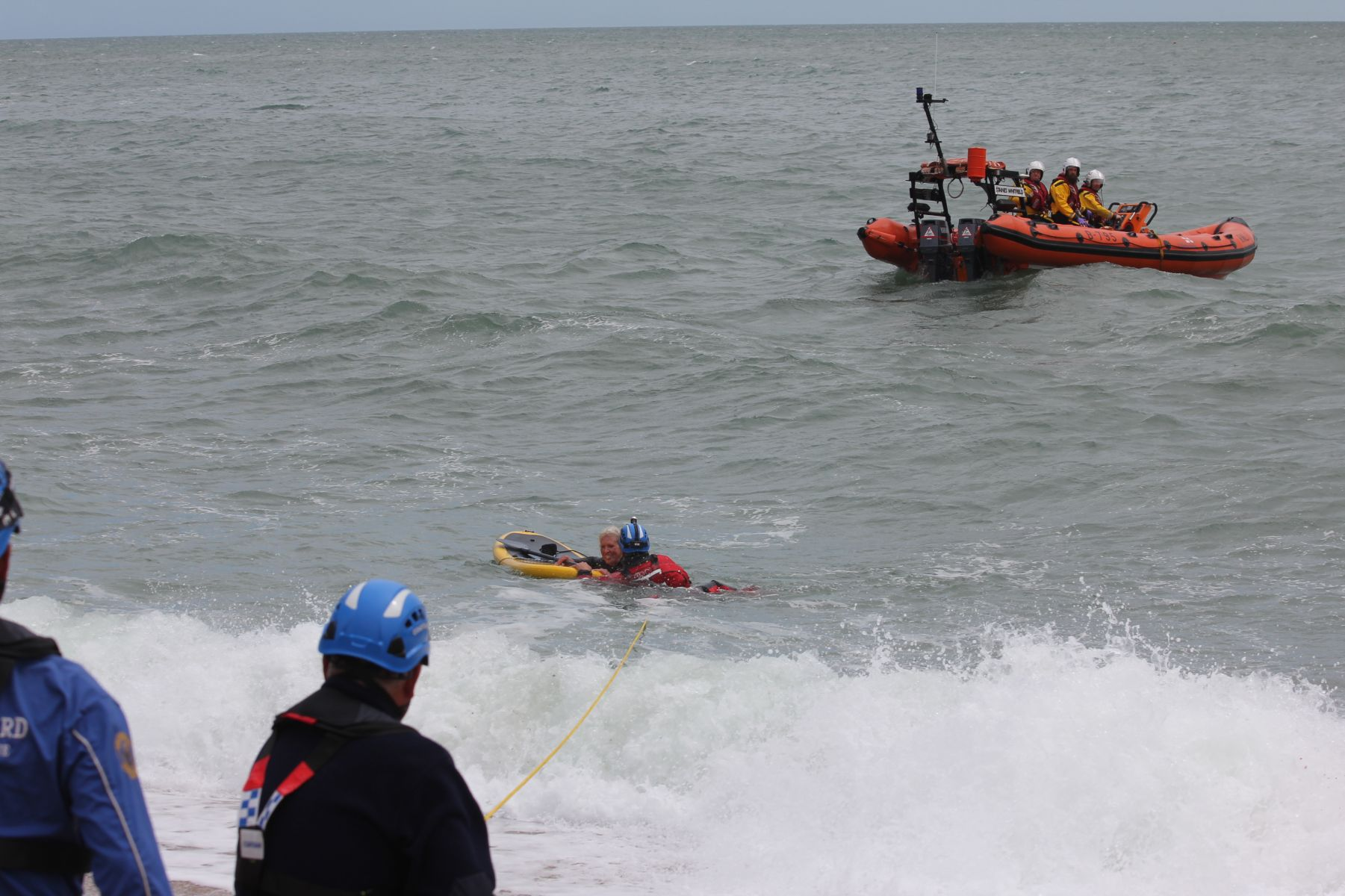 The paddleboarder was helped ashore by the Dartmouth Coastguard team.