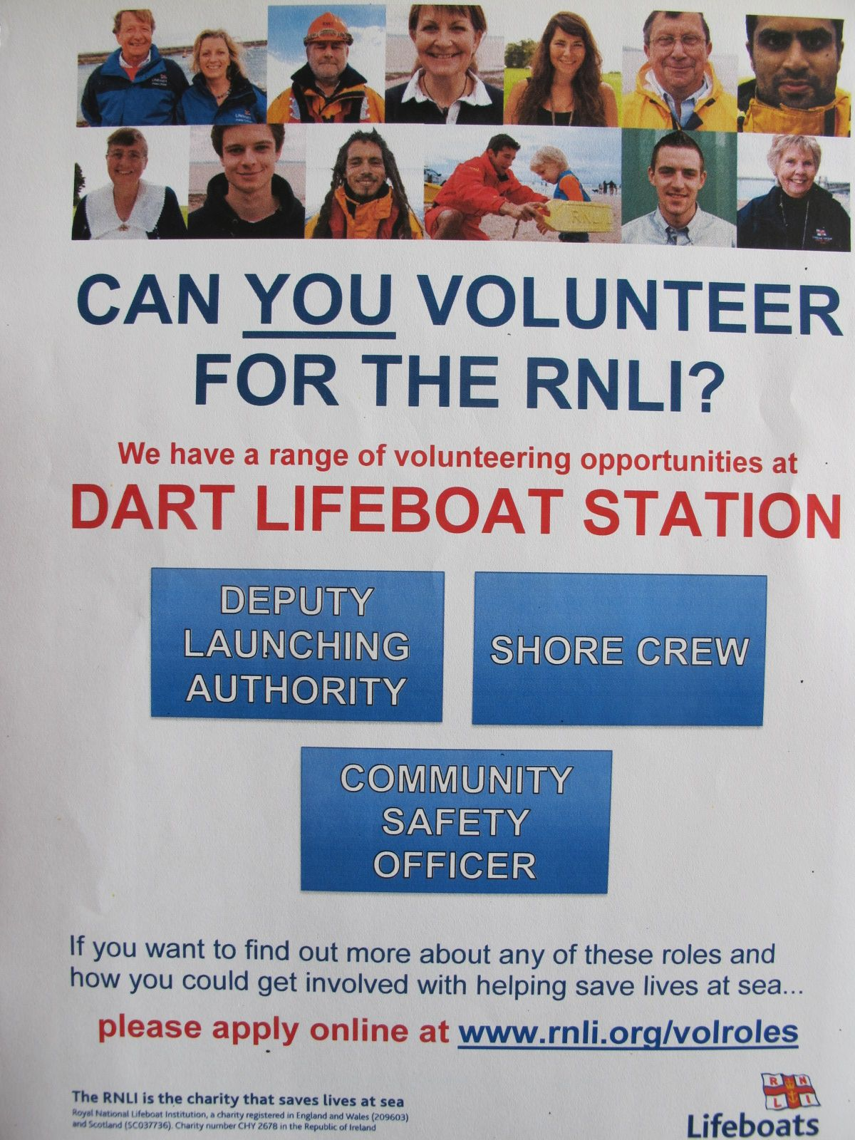 Dart RNLI volunteering opportunities